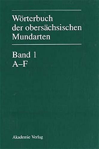9783050033013: Wörterbuch der obersächsischen Mundarten (German Edition)