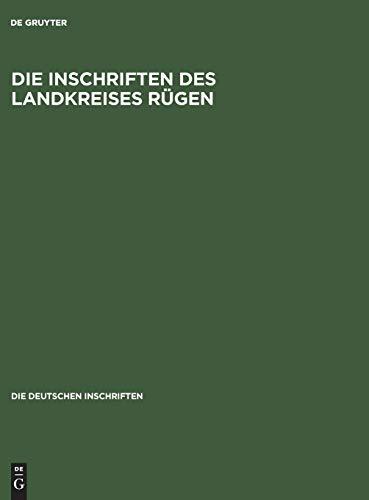 9783050037424: Die Inschriften des Landkreises Rügen