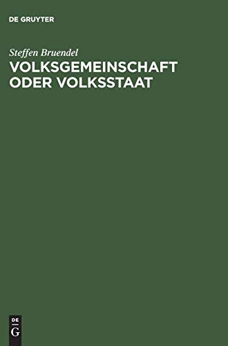 9783050037455: Volksgemeinschaft Oder Volksstaat