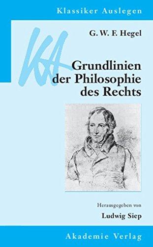 9783050041643: Grundlinien der Philosophie des Rechts
