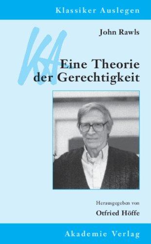 9783050042671: John Rawls. Eine Theorie der Gerechtigkeit
