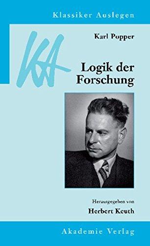 9783050043685: Karl Popper: Logik der Forschung