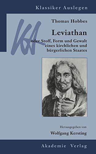 9783050044460: Thomas Hobbes: Leviathan (Klassiker Auslegen)