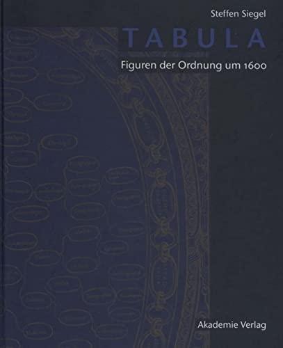 9783050045634: Tabula: Figuren Der Ordnung Um 1600