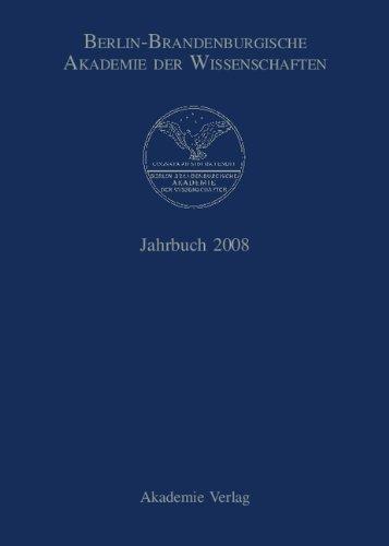 9783050045894: Berlin-Brandenburgische Akademie der Wissenschaften. Jahrbuch: Jahrbuch 2008