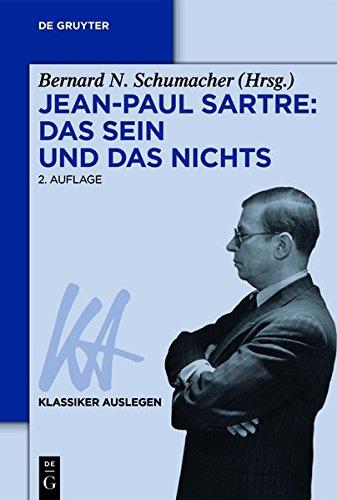 9783050056753: Jean-Paul Sartre: Das Sein und das Nichts (Klassiker Auslegen)