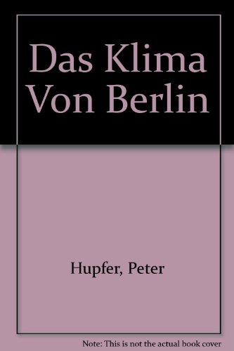 9783055006302: Das Klima Von Berlin