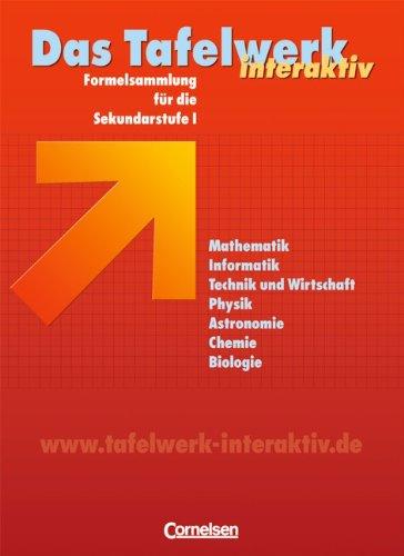 9783060002887: Das Tafelwerk interaktiv / Sch�lerbuch / Westliche Bundesl�nder