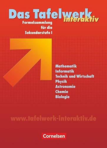 9783060002894: Das Tafelwerk interaktiv / Schülerbuch / Östliche Bundesländer: Formelsammlung für die Sekundarstufe I