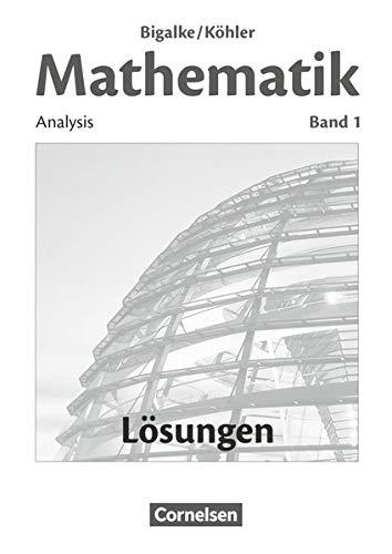 9783060004805: Band 1 - Analysis: Lösungen zum Schülerbuch