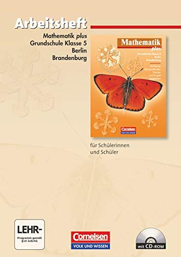 9783060005772: Mathematik plus. Grundschule 5. Schuljahr. Berlin und Brandenburg. Arbeitsheft
