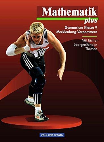 9783060009572: Mathematik plus 9. Lehrbuch. Mecklenburg-Vorpommern. Euro-Ausgabe: Gymnasium