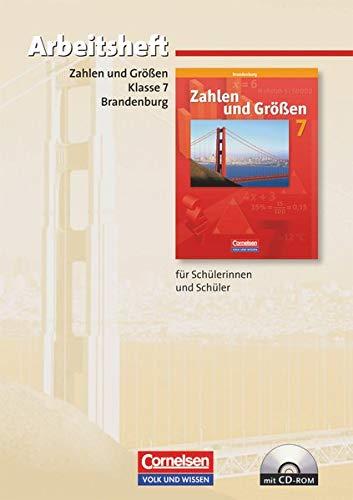 9783060011476: Zahlen und Größen Sekundarstufe I. 7. Schuljahr. Brandenburg. Arbeitsheft
