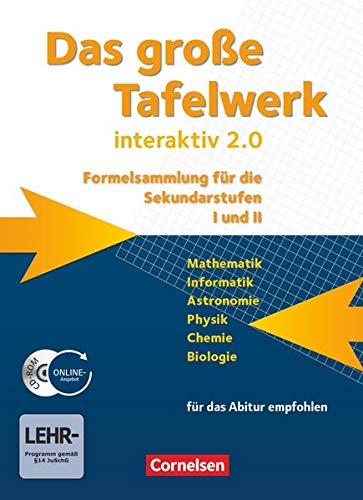 9783060016099: Das große Tafelwerk interaktiv 2.0 - Westliche Bundeslander: Das große Tafelwerk interaktiv 2.0 Mathematik, Informatik, Astronomie, Physik, Chemie, ... mit CD-ROM. Westliche Bundeslander