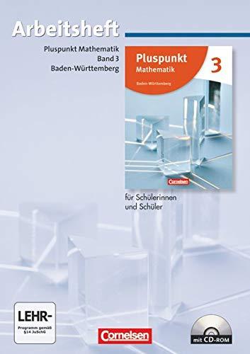 9783060048120: Pluspunkt Mathematik 3. Arbeitsheft mit Lösungen und CD-ROM. Baden-Württemberg