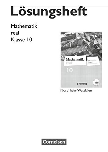 9783060066773: Mathematik real 10. Schuljahr. Lösungen zum Schülerbuch. Differenzierende Ausgabe Nordrhein-Westfalen