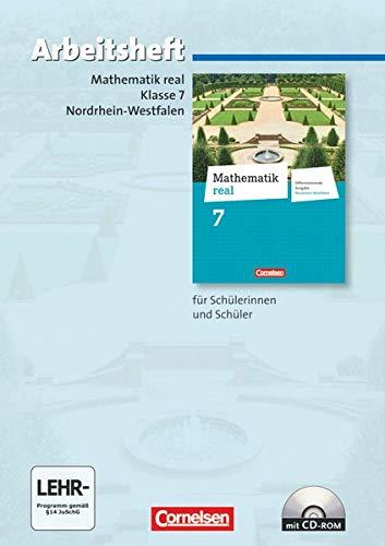 9783060066957: Mathematik real 7. Schuljahr. Arbeitsheft mit eingelegten Lösungen und CD-ROM. Differenzierende Ausgabe Nordrhein-Westfalen