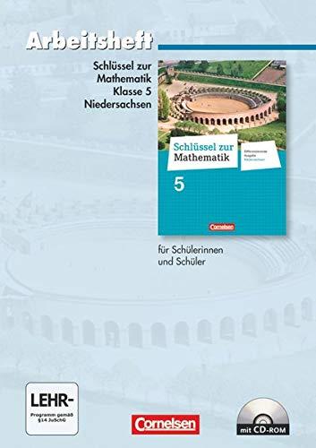 9783060067251: Schlüssel zur Mathematik 5. Schuljahr. Arbeitsheft mit eingelegten Lösungen und CD-ROM. Differenzierende Ausgabe Niedersachsen