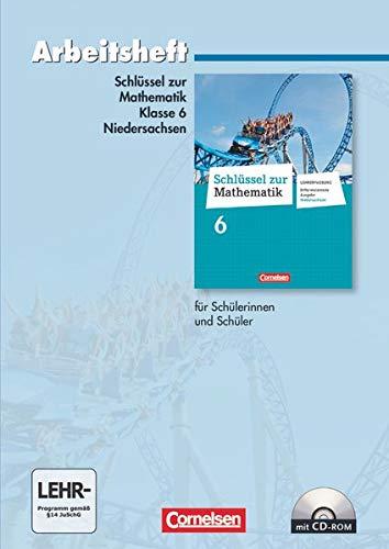 9783060067268: Schlüssel zur Mathematik 6. Schuljahr. Arbeitsheft mit eingelegten Lösungen und CD-ROM. Differenzierende Ausgabe Niedersachsen