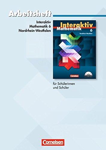 9783060088614: Mathematik interaktiv 6. Schuljahr. Arbeitsheft. Ausgabe Nordrhein-Westfalen mit L�sungsteil