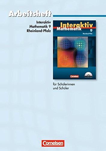 9783060089307: Mathematik interaktiv 9. Schuljahr. Standardarbeitsheft. Rheinland-Pfalz: Mit eingelegten Lösungen