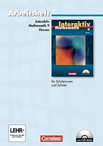 9783060089949: Mathematik interaktiv 9. Schuljahr. Arbeitsheft. Hessen