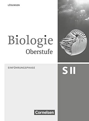 9783060103485: Biologie Oberstufe Einführungsphase. Lösungsheft Nordrhein-Westfalen