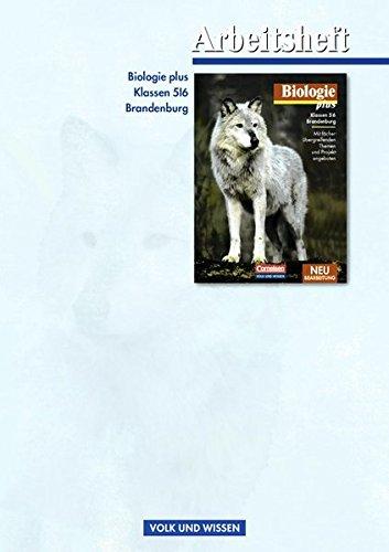 9783060105380: Biologie plus 5/6. Schülerbuch. Arbeitsheft. Berlin/Brandenburg