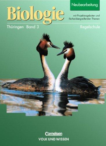 9783060109357: Biologie 3. Lehrbuch. Regelschule. Thüringen: Klassen 9 und 10