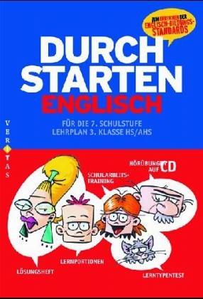 9783060251667: Durchstarten in Englisch. Neubearbeitung. 7. Schuljahr - _bungsbuch mit L�sungen und CD