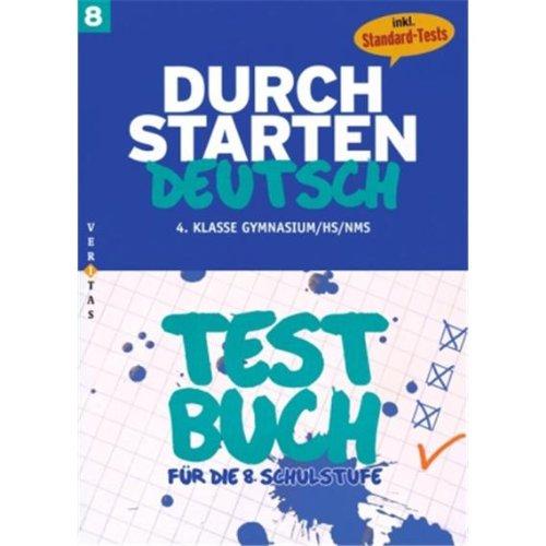 9783060252053: Durchstarten Deutsch : Testbuch fur die 8. Schulstufe, m. Audio-CD