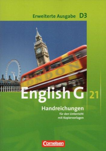 9783060311095: English G 21, Handreichungen für den Unterricht mit Kopiervorlagen, D3, Erweiterte Ausgabe