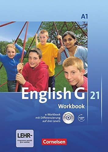 9783060312696: English G 21. Ausgabe A 1. Workbook mit CD-ROM (e-Workbook) und CD: 5. Schuljahr