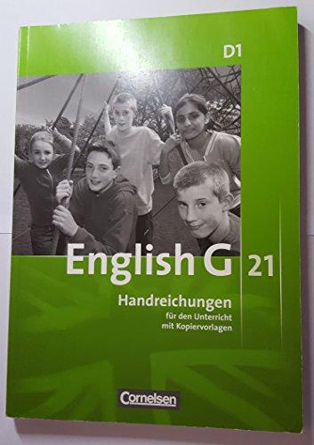 9783060313396: English G 21 D1, Handreichungen für den Unterricht mit Kopiervorlagen