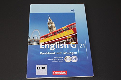 9783060313792: English G 21, Band A3, Workbook mit Lösungen, e-Workbook & Audio-CD
