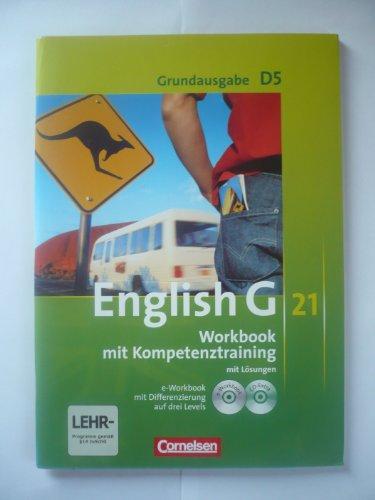 9783060313976: English G 21 Grundausgabe D5 Workbook mit Kompetenztraining mit Lösungen