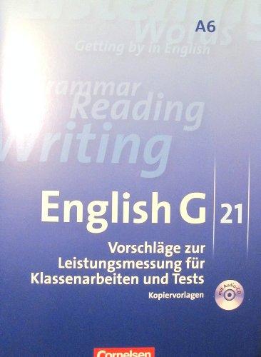 9783060319930: Vorschläge zur Leistungsmessung A6 G21 für Klassenarbeiten und Tests. Ausgabe A. 10. Schuljahr - 6-jährige Sekundarstufe A 6 , G 21