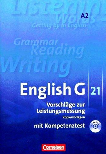 9783060320752: English G 21 Vorschläge zur Leistungsmessung A2 Cornelsen Klassenarbeiten A 2 mit Audio CD und Kompetenztest Klasse 6
