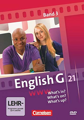 9783060321384: English G 21 Bd. 3: Ausgaben A, B und D - What's in? What's on? What's up? DVD-Video: Video-DVD zu allen Ausgaben [Internacional]