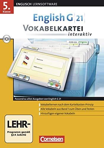 9783060322855: English G 21 - Lernsoftware - Vokabelkarteien interaktiv - zu allen Ausgaben: EG 21 Band 1; 5.Klasse Vokabelkarteien interaktiv zu allen Ausgaben