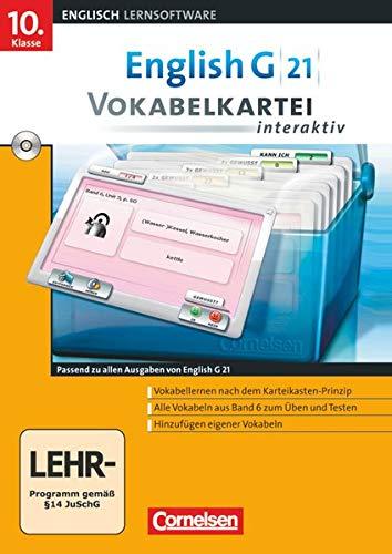 9783060324828: English G 21 - Lernsoftware - Vokabelkarteien interaktiv - zu allen Ausgaben: English Coach G 21. Ausgaben A, B und D 6. Abschlussband 6-jährige ... interaktiv - zu allen Ausgaben