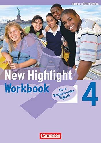 New Highlight 4: 8. Schuljahr Werkrealschulen (4 Wochenstunden). Workbook Baden-Württemberg (Paperback)