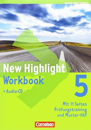 9783060327614: New Highlight 5: 9. Schuljahr. Werkrealschulen (5 Wochenstunden). Workbook mit Lieder-/Text-CD. Baden-Württemberg.: Mit Workbook Extra im Paket