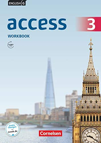 9783060328062: English G Access 3: 7. Schuljahr.Workbook mit Audios online