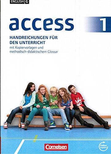 9783060330485: access 1 Handreichungen für den Unterricht mit Kopiervorlagen und methodisch-didaktischem Glossar