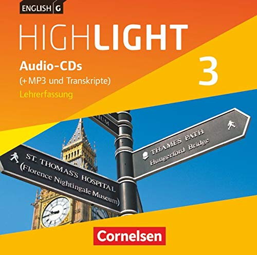 9783060333042: English G Highlight 03: 7. Schuljahr. Audio-CDs. Hauptschule