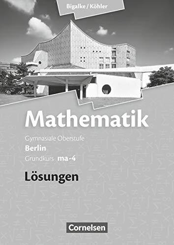 9783060400102: Grundkurs ma-4 - Qualifikationsphase - Lösungen zum Schülerbuch