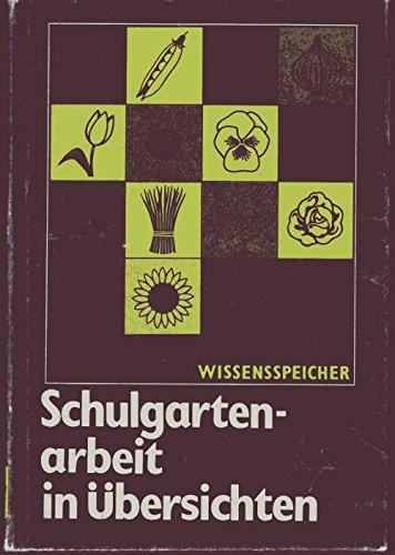 9783060503056: Schulgartenarbeit in Übersichten . Wissensspeicher . 1988 . Volk & Wissen ...
