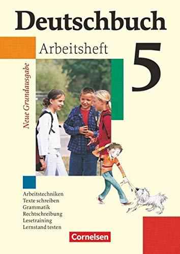 9783060608027: Deutschbuch Grundausgabe 5. Schuljahr. Arbeitsheft mit Lösungen. Neubearbeitung
