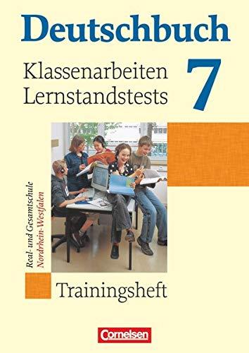 9783060608416: Deutschbuch 7. Schuljahr. Klassenarbeiten und Lernstandstests. Nordrhein-Westfalen: Trainingsheft mit Lösungen